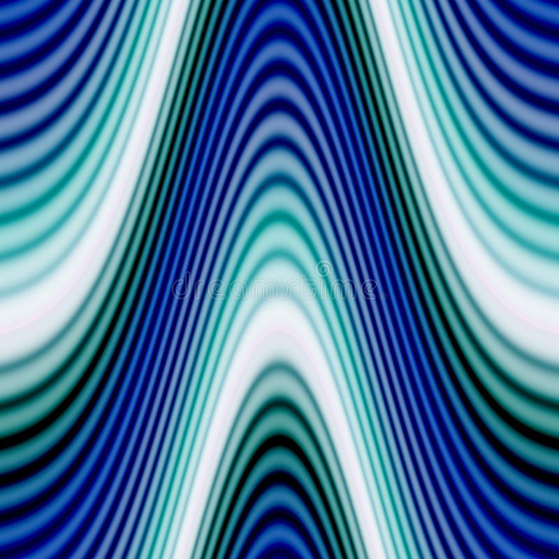 Funky Glowing Waves royalty free illustration