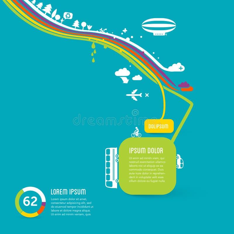 Funky grafische ontwerpachtergrond stock illustratie