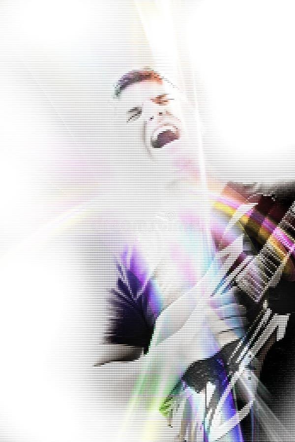 Funky Guitar Singer stock illustration