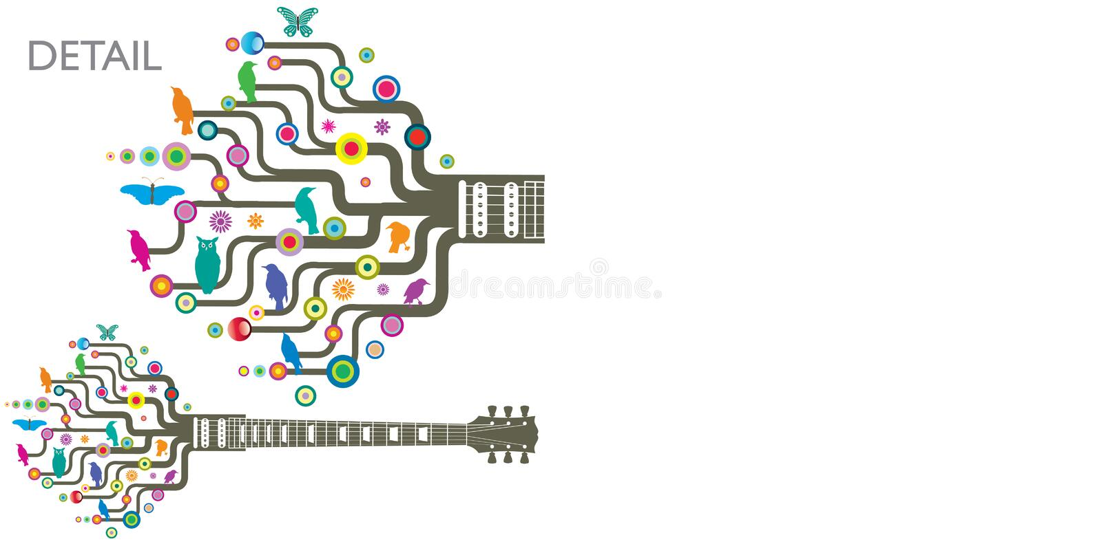 Download Funky guitars stock vector. Image of animal, over, artwork - 10231259