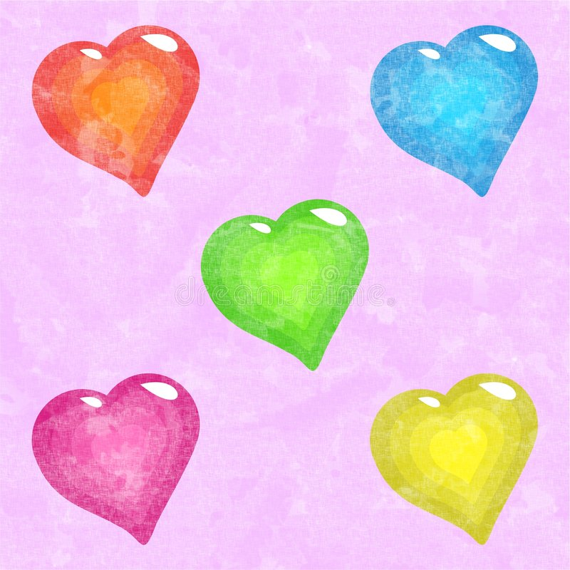 Download Funky hearts stock illustration. Image of backgrounds, hearts - 962964