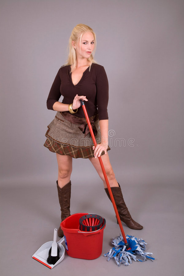 Funky housewife stock images