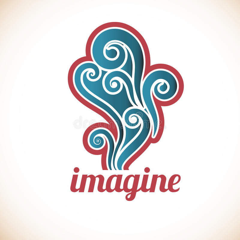 Funky Imagine decal royalty free illustration