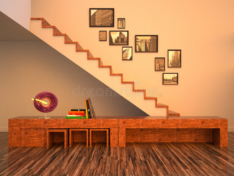The funky interior stock illustration