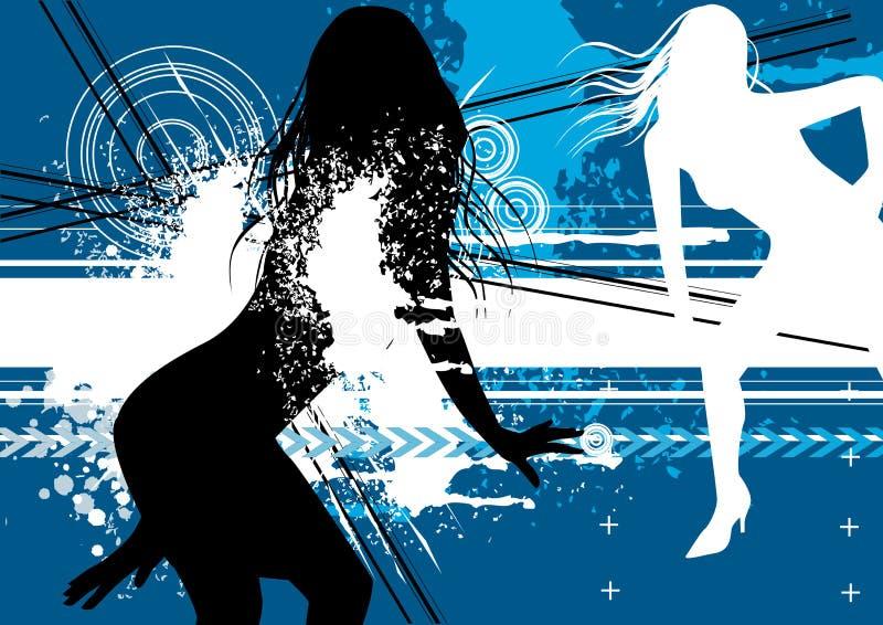 Funky Jonge Vrouwen vector illustratie