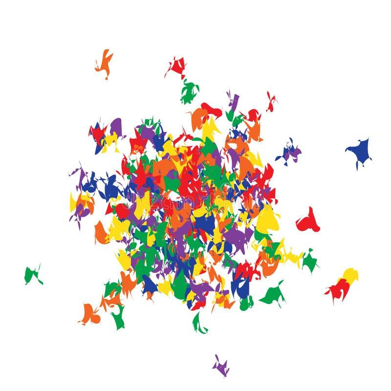 Funky kleurrijke confettientextuur vector illustratie