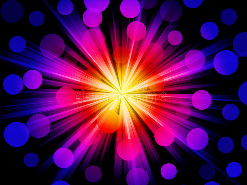 Funky lichten vector illustratie