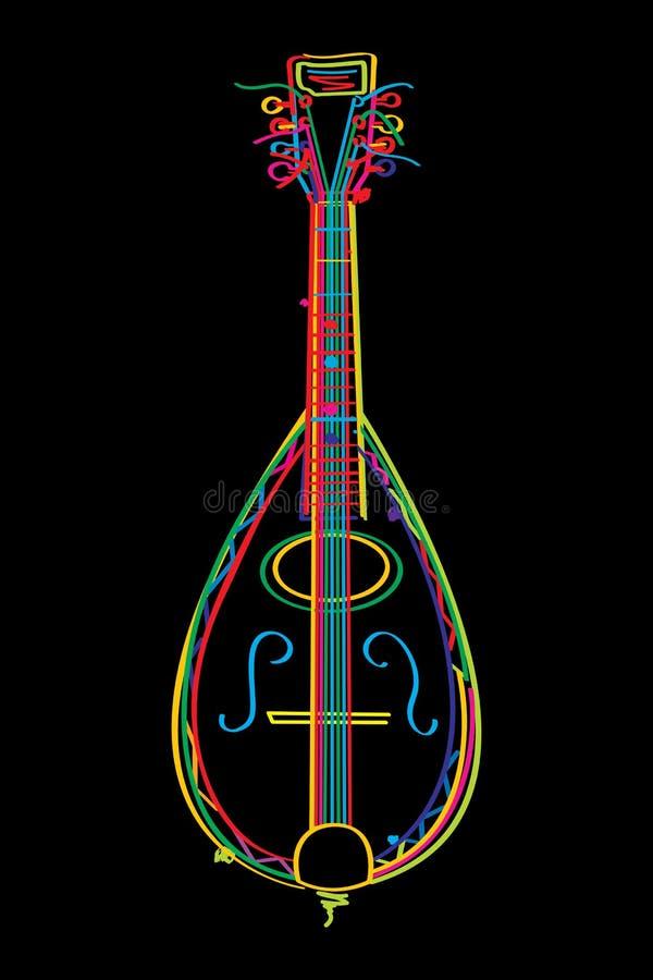 Funky Mandolin Stock Image