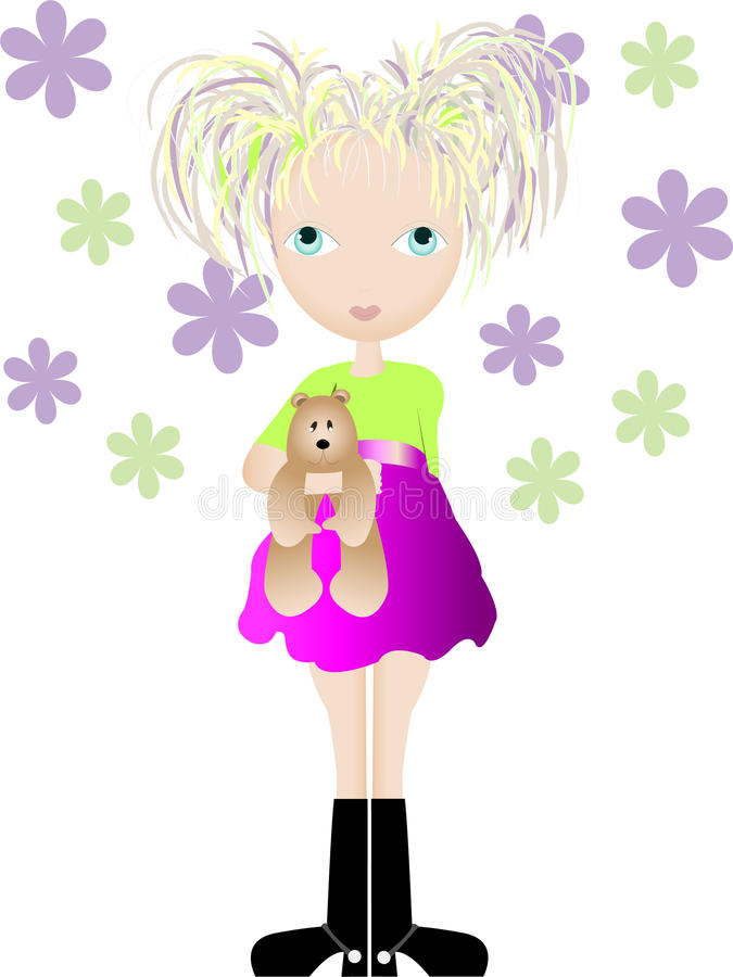 Funky meisje stock foto