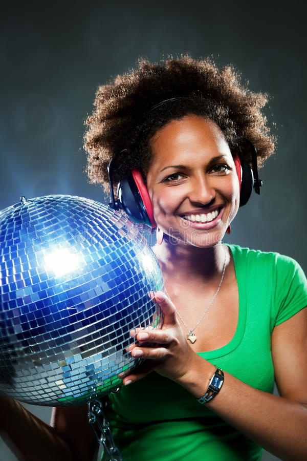Funky Meisje van de Disco royalty-vrije stock foto's