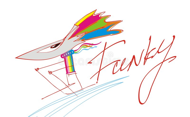 Download Funky mouse stock vector. Image of colorful, drawing, stylish - 8858188