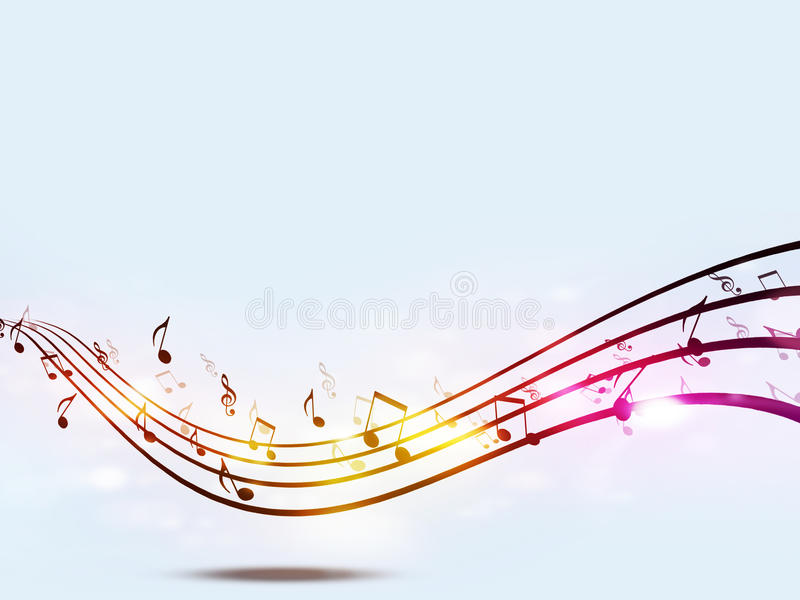 Funky Music Notes royalty free illustration