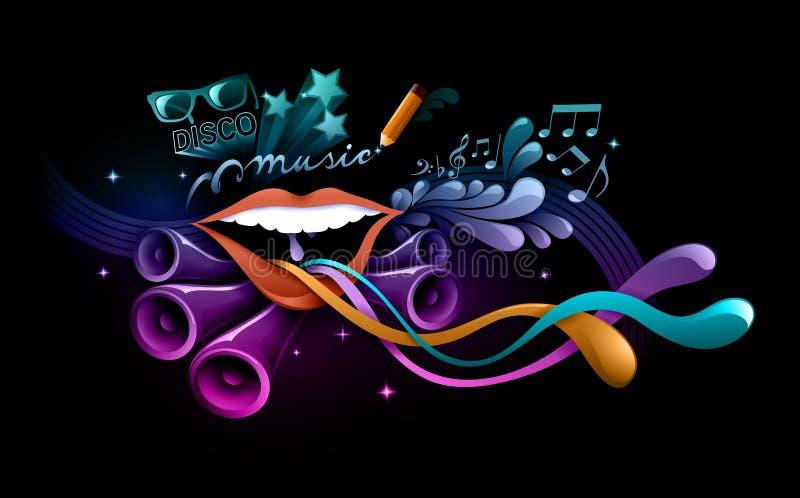 Funky muziekillustratie royalty-vrije illustratie
