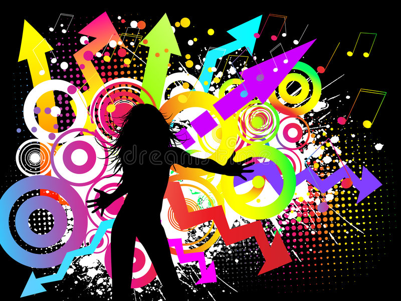 Download Funky party stock vector. Illustration of women, pose - 6226222