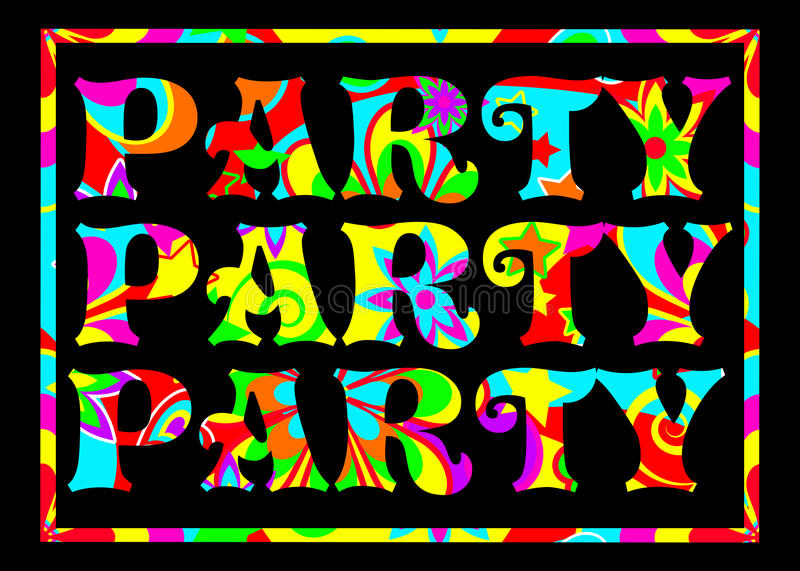 Funky party banner vector illustration