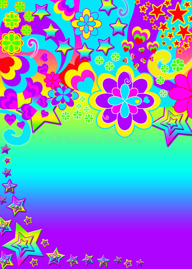 Download Funky psychedelic banner stock illustration. Illustration of backdrop - 15721286