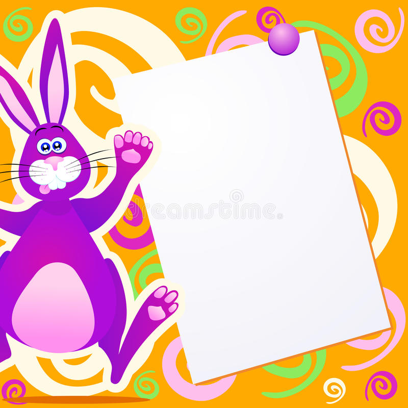 Download Funky rabbit stock illustration. Image of childish, doodle - 23996275