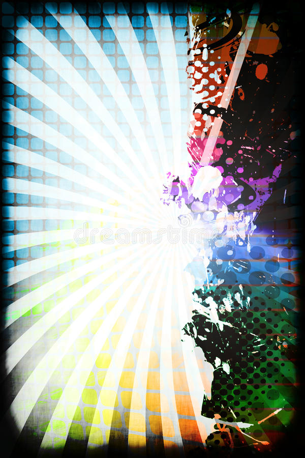 Funky Rainbow Layout royalty free illustration