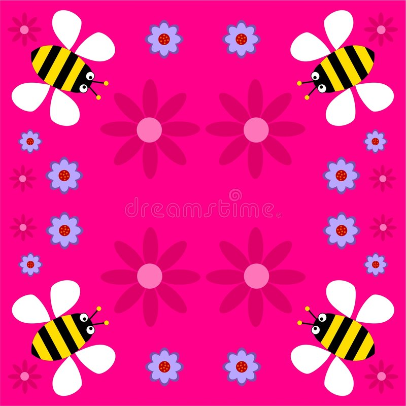 Funky retro bees royalty free illustration