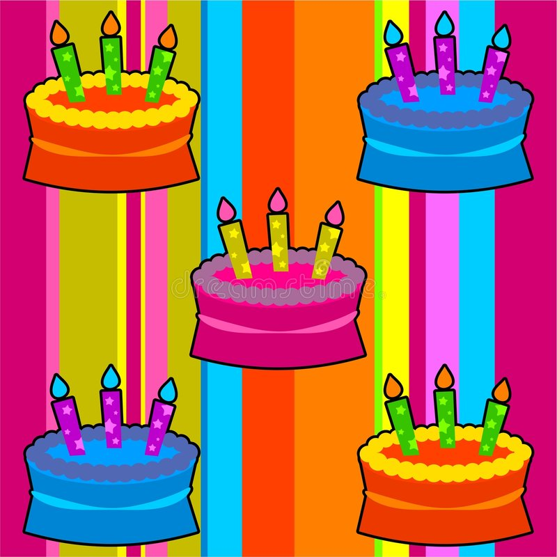Download Funky retro cakes stock illustration. Image of clip, candles - 963119