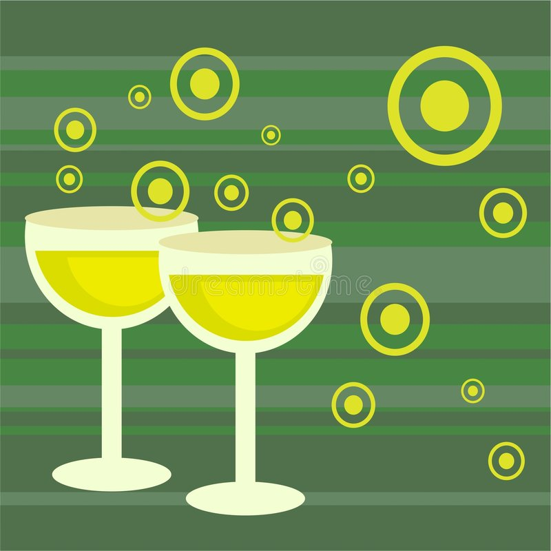Funky retro drinks stock illustration