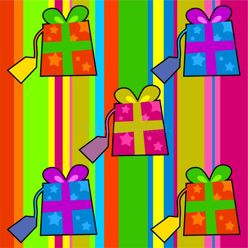 Download Funky retro gifts stock illustration. Image of presents - 963193