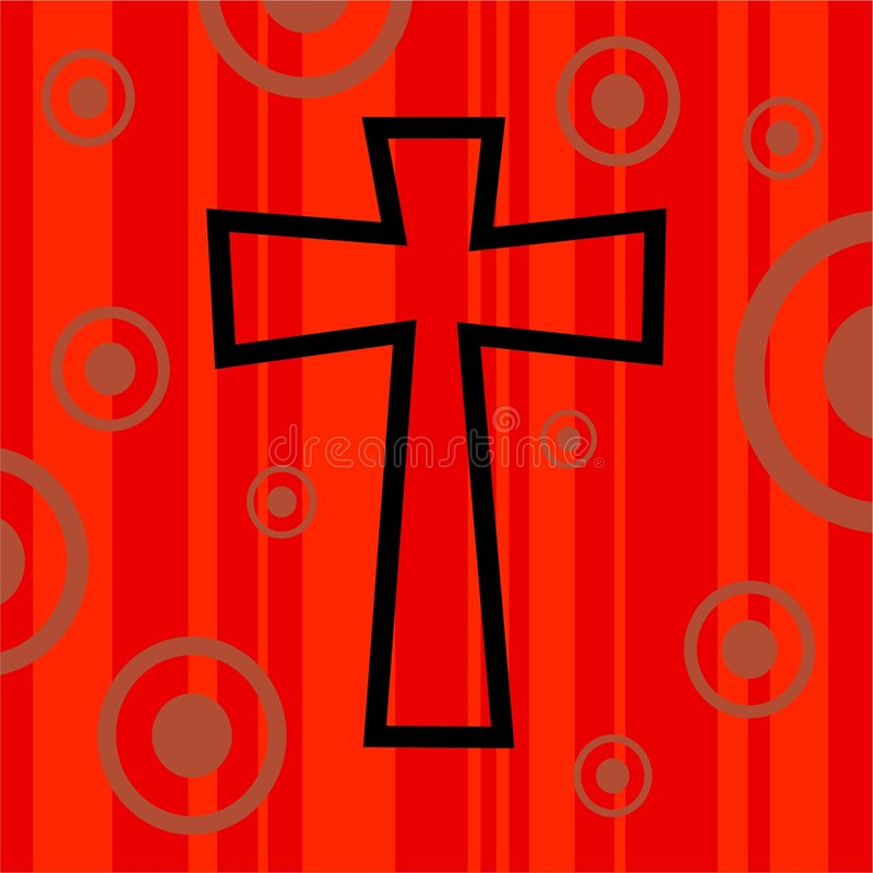 Funky retro kruis vector illustratie