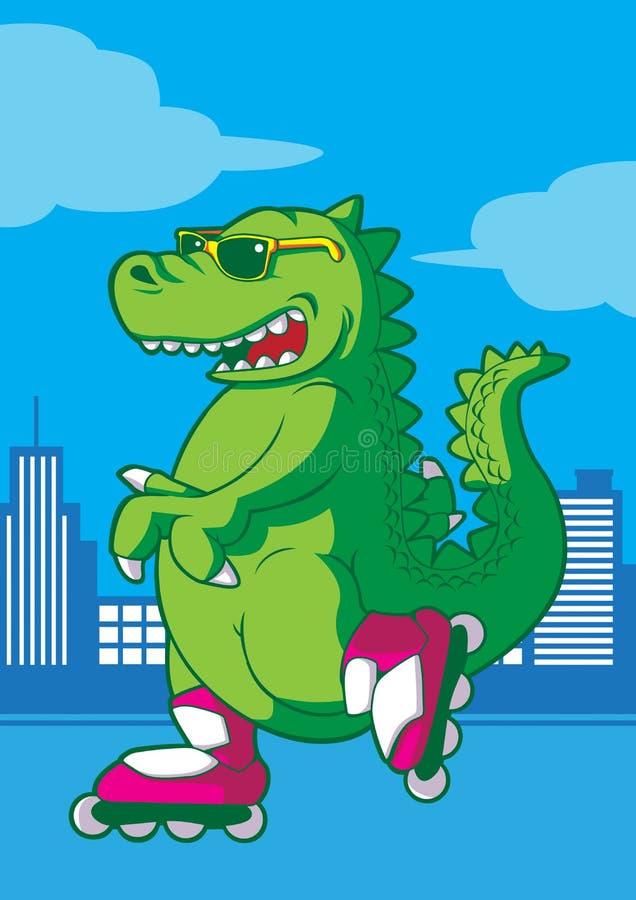 Funky rex stock illustratie