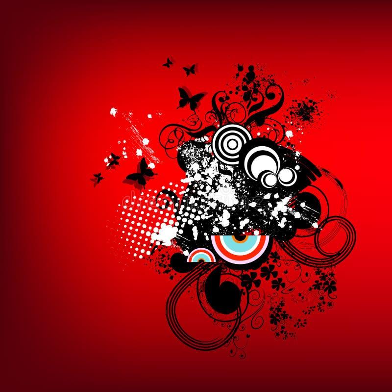 Funky rode retro grafisch vector illustratie