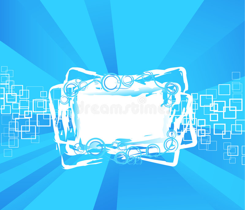 Funky squares frame background stock illustration