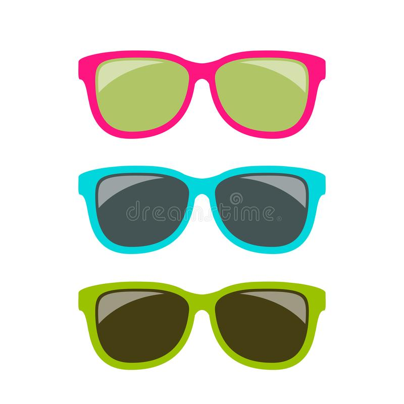 Funky style colorful sun glasses royalty free illustration