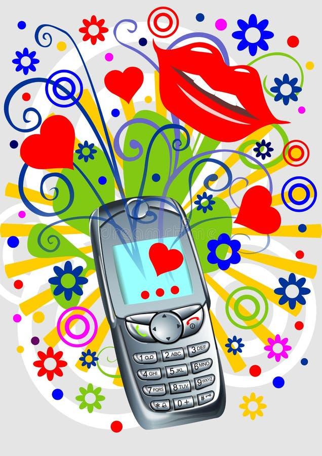 Funky telefoon royalty-vrije illustratie
