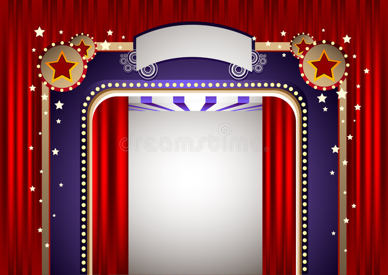 Funky Theatre Stage Stock Photography