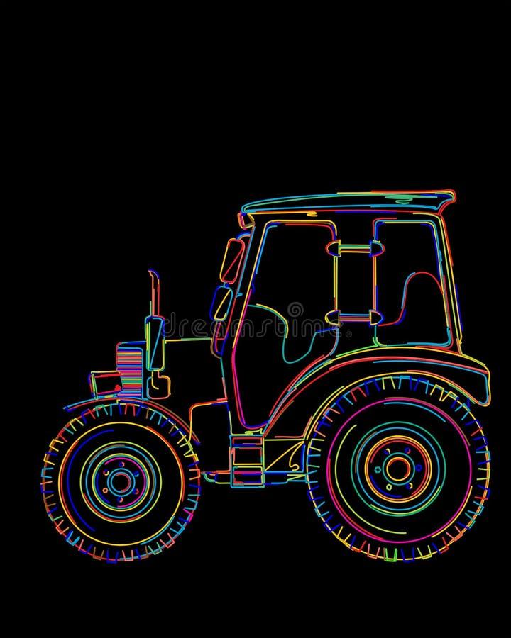 Funky Traktor vektor abbildung
