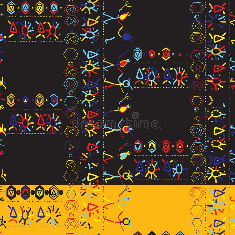 Funky Tribal Pattern royalty illustrazione gratis