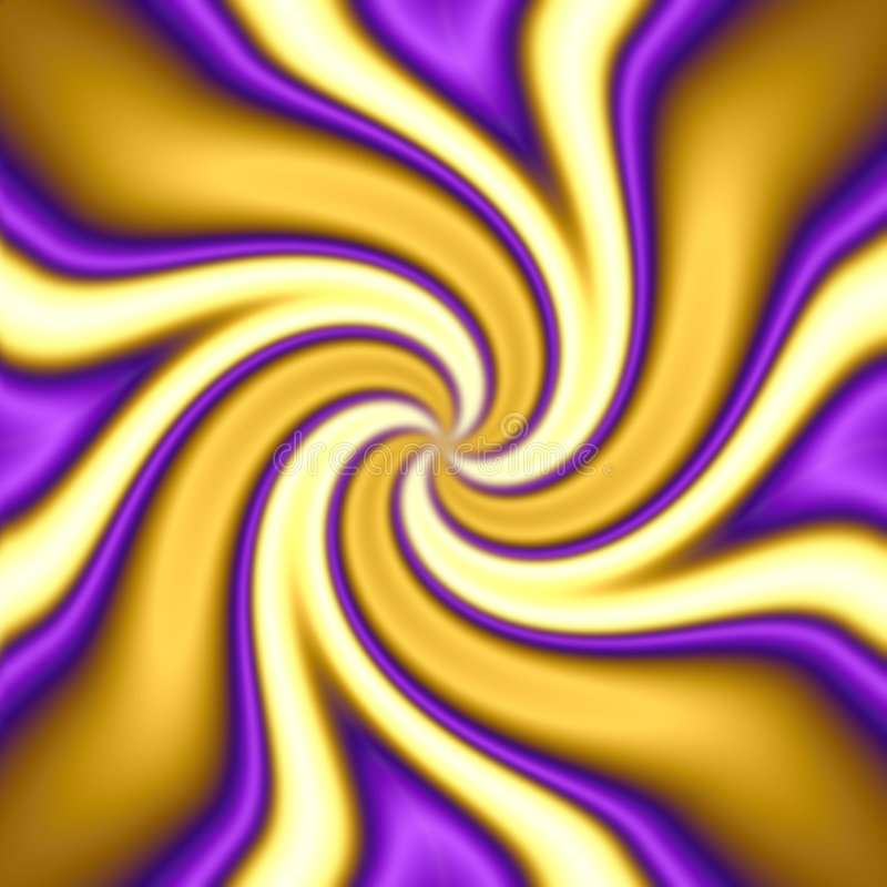 Funky Twirl. A purple, gold and yellow abstract twirl royalty free illustration