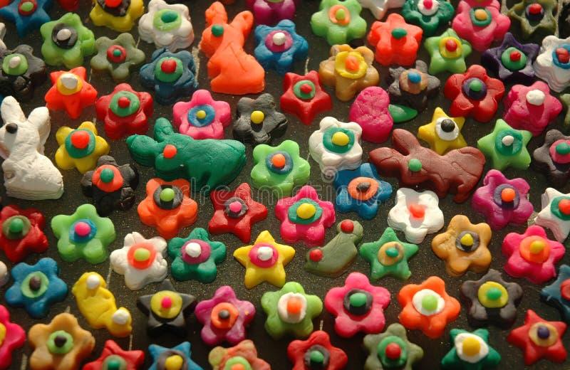 Funky vormen en kleuren. royalty-vrije stock foto