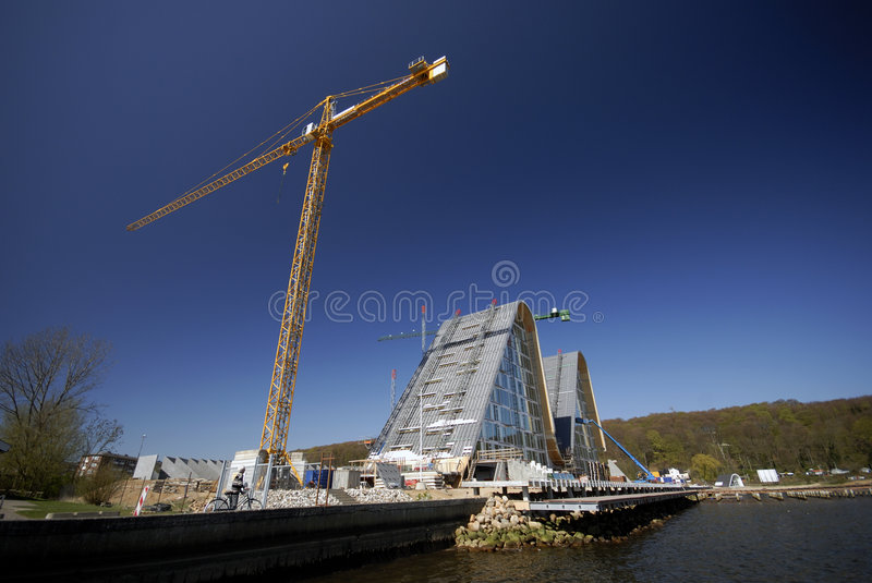 Funky wave building site stock image