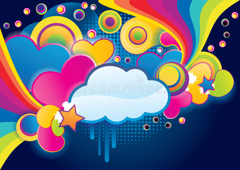 Funky wolk vector illustratie
