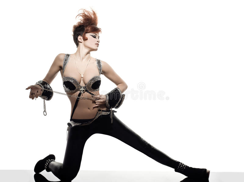 Funky Young Woman Royalty Free Stock Photos