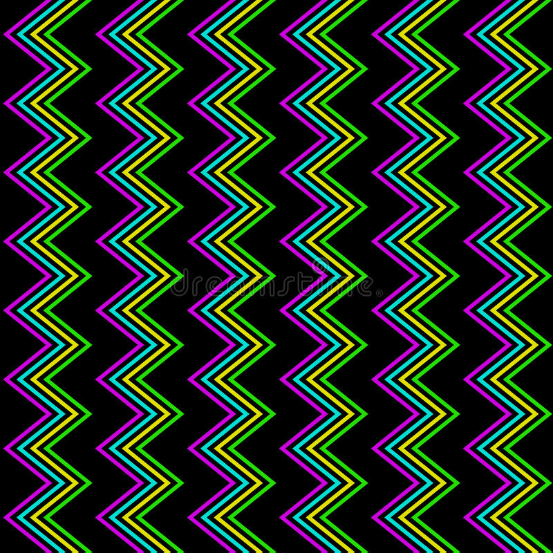 Free Funky Zig Zag Pattern Royalty Free Stock Image - 30799386