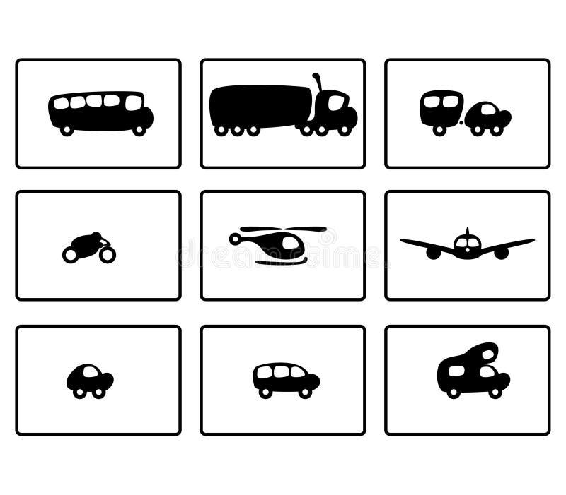 funkycars1 vektor illustrationer