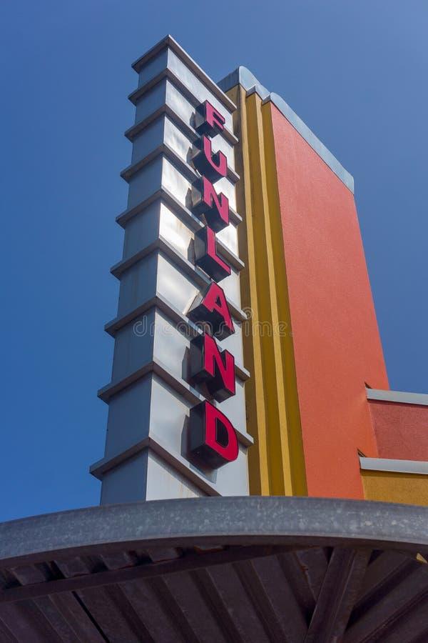 Funland Arcade Seaside Oregon lizenzfreies stockfoto