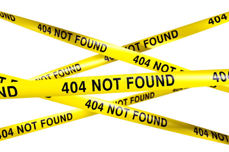 funna 404 inte stock illustrationer