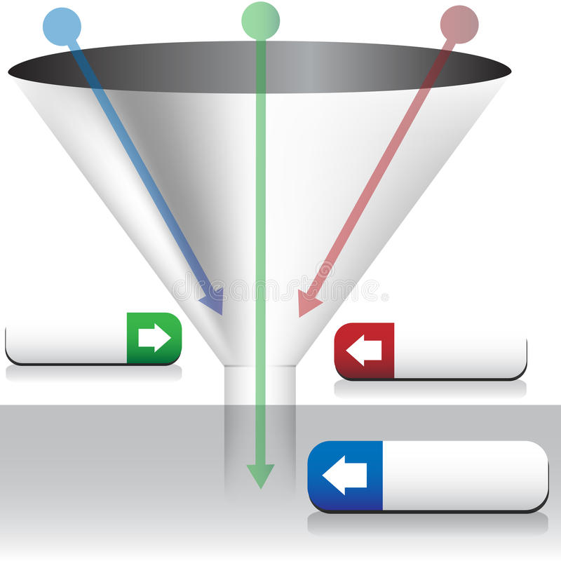 Funnel Chart. An image of a Funnel Chart vector illustration