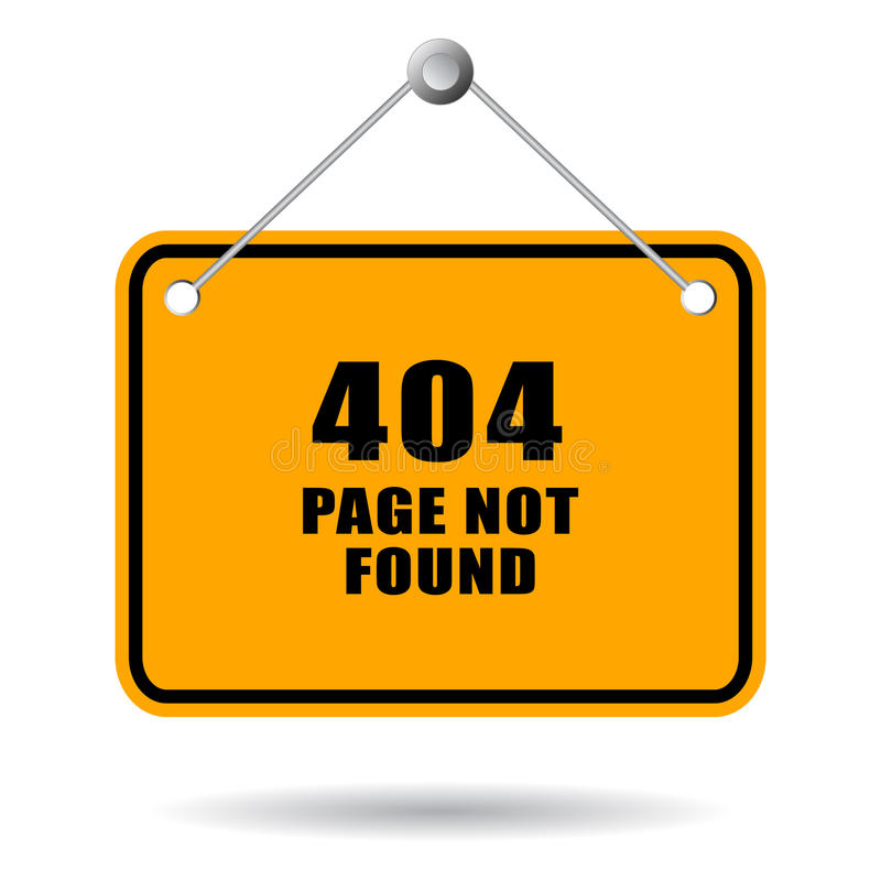 404 funnen inte sida vektor illustrationer