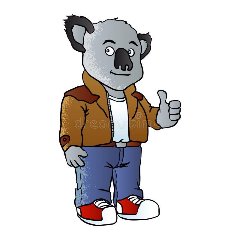 FunnyÂ-koalaKarikatur vektor abbildung