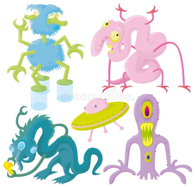 Download Funny aliens stock vector. Illustration of shuttle, monster - 3957909