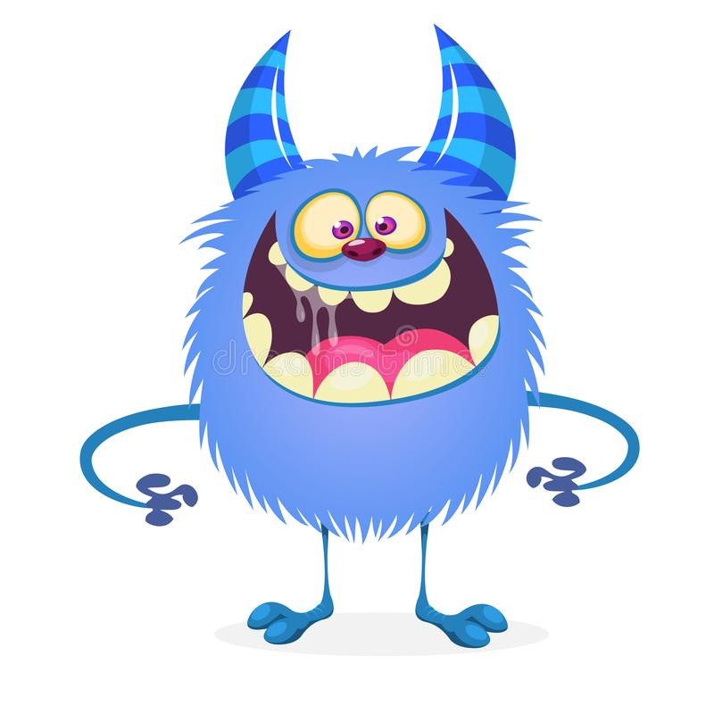 Free Funny And Cute Cartoon Monster Werewolf Character. Stock Photography - 126533542