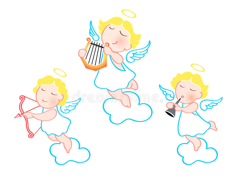 Download Funny angels stock photo. Image of isolated, culture - 12783786